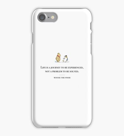 Winnie the Pooh inspirational quote iPhone Case/Skin