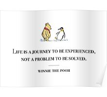 Winnie the Pooh inspirational quote Poster