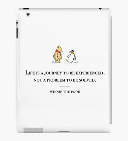 Winnie the Pooh inspirational quote iPad Case/Skin