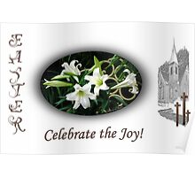 Easter Lilies Fill the Church Poster