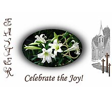 Easter Lilies Fill the Church Photographic Print