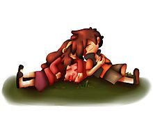 Gravity Falls: Dipper and Mabel - Summer Afternoon Nap Photographic Print