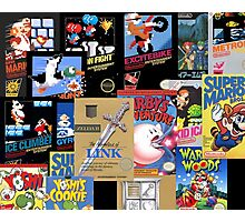 NES Classic Library Poster Photographic Print