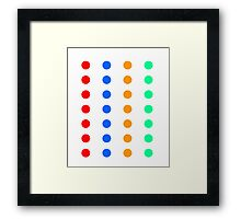 DOTs that look like a party Game Framed Print