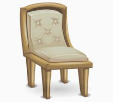 Glitch furniture chair padded gold dining chair Baby Tee