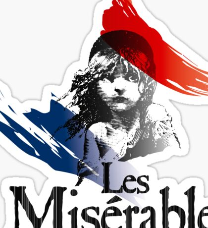 Les Miserables logo girl Sticker
