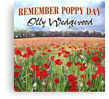 Remember Poppy Day by Olly Wedgwood - CD & Video Art Canvas Print