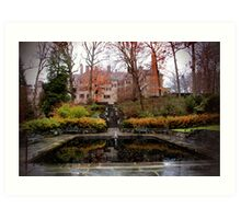 Winterthur Estate with Reflecting Pool Art Print