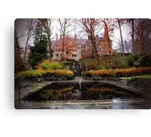 Winterthur Estate with Reflecting Pool Canvas Print