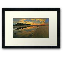 Low Tide at Bamburgh Castle. Framed Print