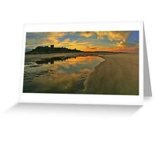 Low Tide at Bamburgh Castle. Greeting Card