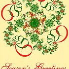 Abstract Christmas Card by Sandy Keeton