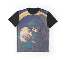 Starry Sky - Howl and Sophie Graphic T-Shirt