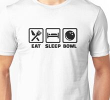 Eat sleep bowl bowling Unisex T-Shirt
