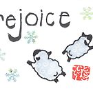 Sheep and Snowflakes by dosankodebbie