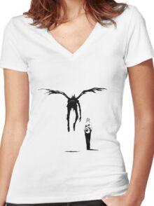 Death Note - Kira & Ryuk Women's Fitted V-Neck T-Shirt