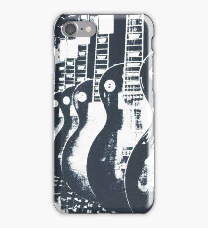 Guitar Shop Screen print iPhone Case/Skin