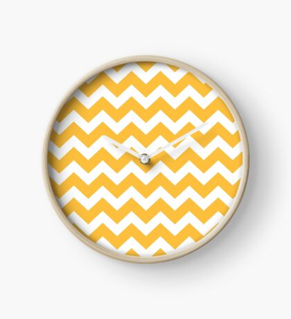 Original stylish designers stripes : Yellow Clock