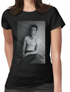 Black and White Cameron Womens Fitted T-Shirt
