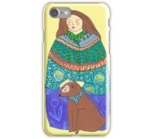 Lady and the dog iPhone Case/Skin