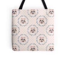 Pattern with raccoon Tote Bag