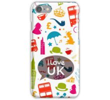 I Love UK iPhone Case/Skin