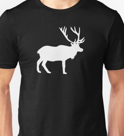White Deer Stag with Antlers Unisex T-Shirt