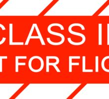 NASA - CLASS III Not For Flight Sticker
