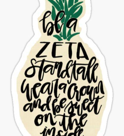 zeta pineapple crown Sticker
