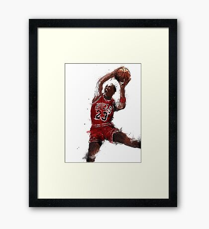 Jordan Dunk Framed Print