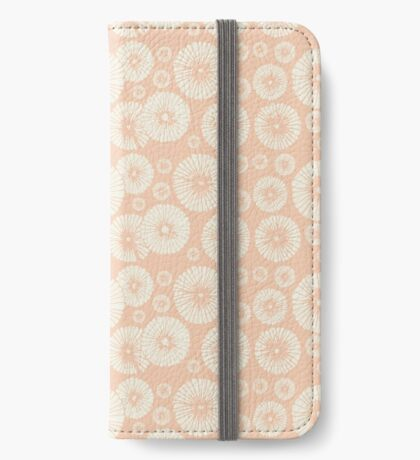 Pink Flowers on Tropical Blush iPhone Wallet/Case/Skin