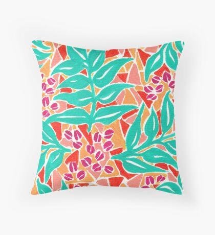Organic - Original Illustration Throw Pillow