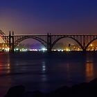 Yaquina Bay Bridge At Night by James Eddy