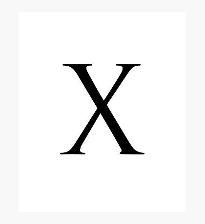 Letter X Photographic Print