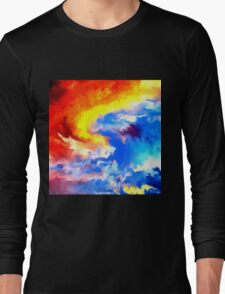 heaven sunset sunrise sky abstract Long Sleeve T-Shirt