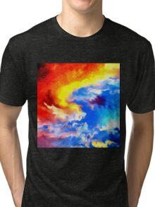 heaven sunset sunrise sky abstract Tri-blend T-Shirt