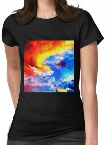 heaven sunset sunrise sky abstract Womens Fitted T-Shirt