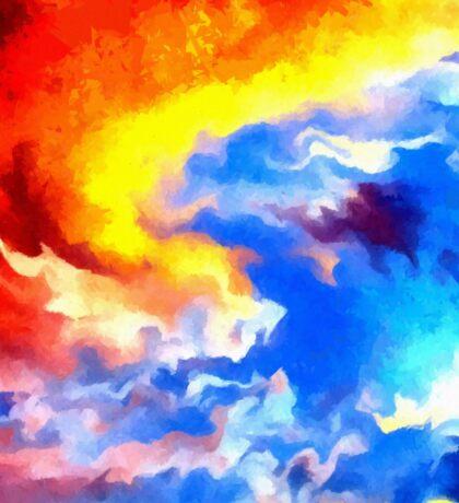 heaven sunset sunrise sky abstract Sticker