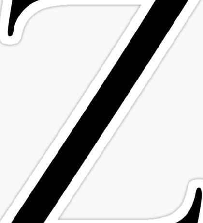 Letter Z Sticker