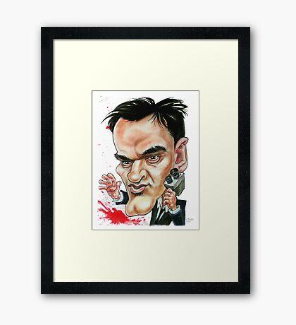 Tarantino on set. Framed Print