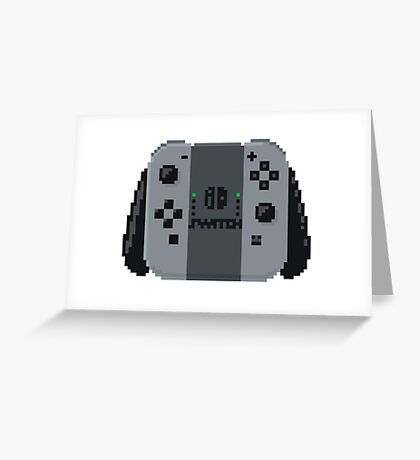 Nintendo switch controller in pixelart Greeting Card