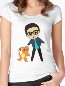 Link Neal and his buddy Women's Fitted Scoop T-Shirt