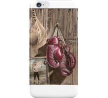 Boxing nostalgia oil painting iPhone Case/Skin