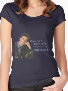 Danny Tanner teaches mnemonic devices! Women's Fitted Scoop T-Shirt