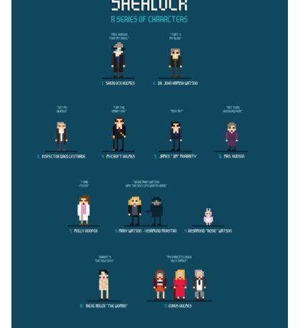 Sherlock - 8bit tribute / characters Sticker