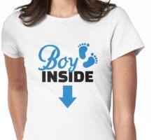 Boy inside Womens Fitted T-Shirt