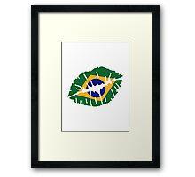 Brazil kiss lips Framed Print