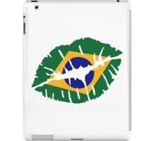 Brazil kiss lips iPad Case/Skin
