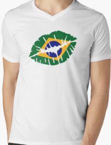 Brazil kiss lips Mens V-Neck T-Shirt