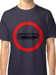 Bus UK British Cool Circle Transportation Classic T-Shirt